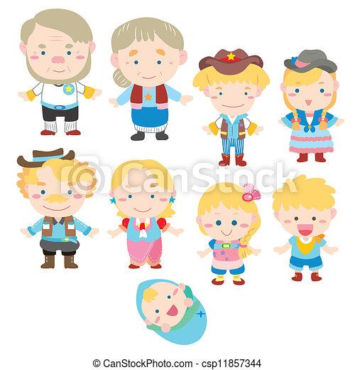 Cartoon-Familien-Ikone - csp11857344