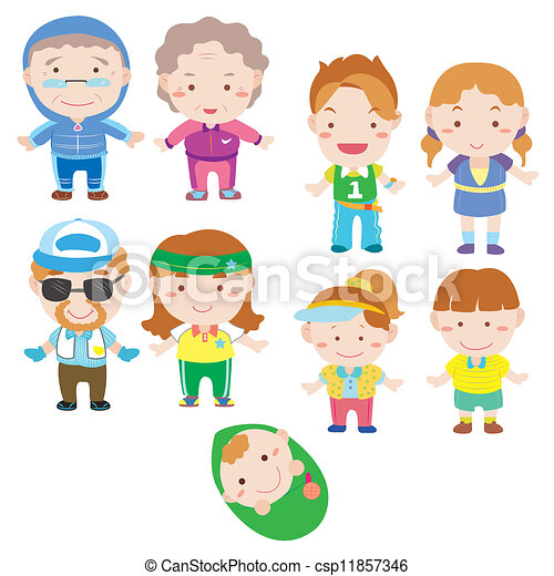 Cartoon-Familien-Ikone - csp11857346