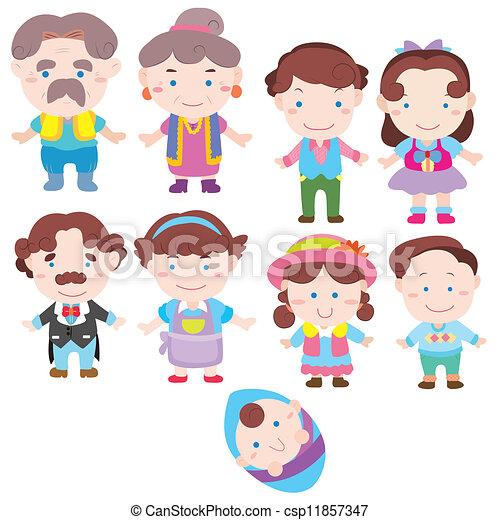Cartoon-Familien-Ikone - csp11857347