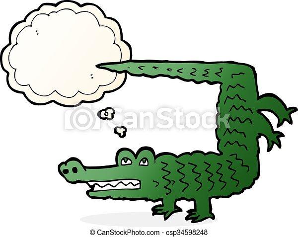 Krokodil gezeichnet vektor hand Clipart Vektor Grafiken. 95 Krokodil ...