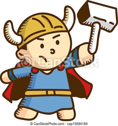 Karikatur Thor