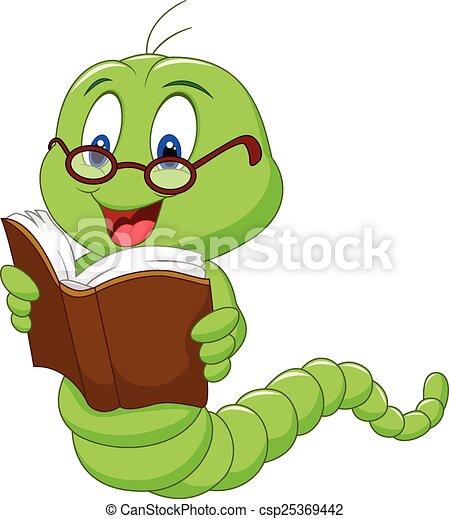 Bücherwurm Clipart