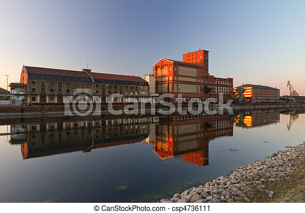 karlsruhe, 德國, 工廠, rheinhafen - csp4736111