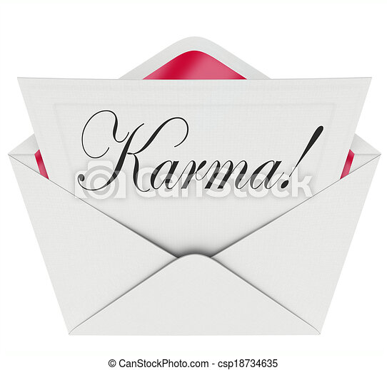 Karma invitation letter message open envelope good news drawings karma invitation letter message open envelope good news luck csp18734635 stopboris Images