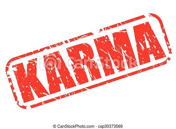 KARMA red stamp text - csp30373569