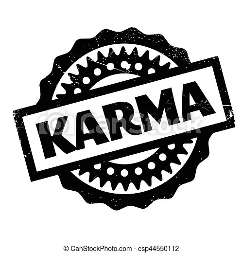 Karma rubber stamp - csp44550112