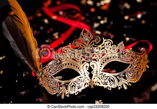 karnawał, mask. - csp33208220