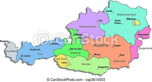 Karta Osterrike Over Vit