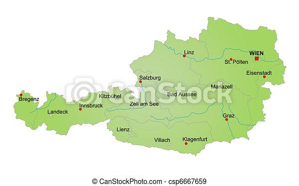 Karta Osterrike Karta Austria
