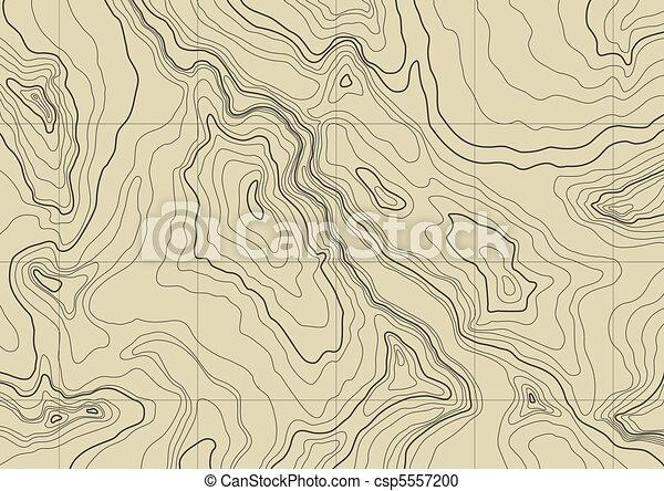 karta, abstrakt, topografisk - csp5557200