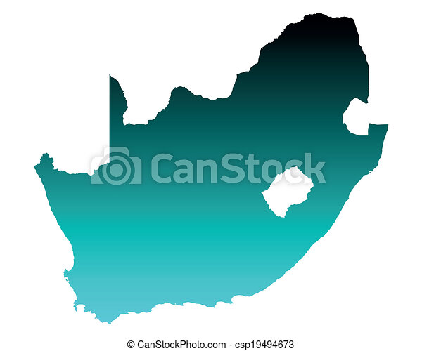 karta, afrika, syd - csp19494673