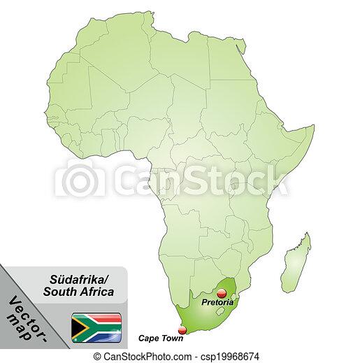 karta, afrika, syd - csp19968674
