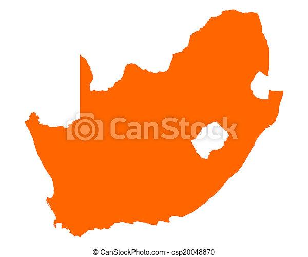 karta, afrika, syd - csp20048870