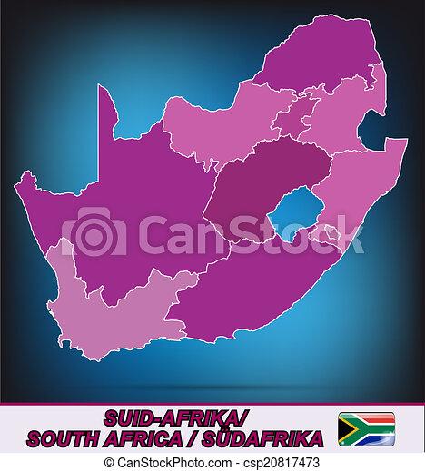 karta, afrika, syd - csp20817473