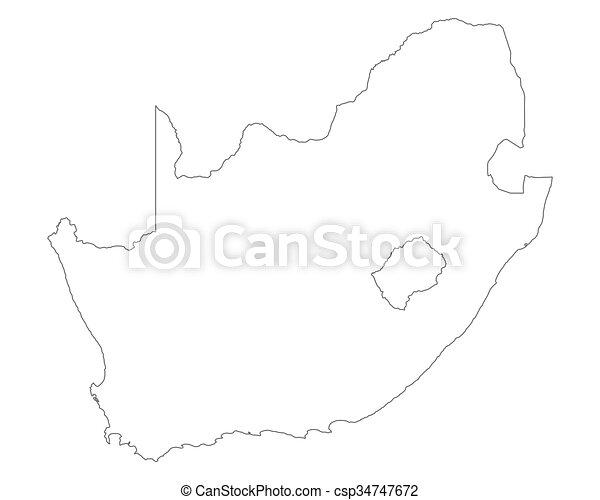 karta, afrika, syd - csp34747672