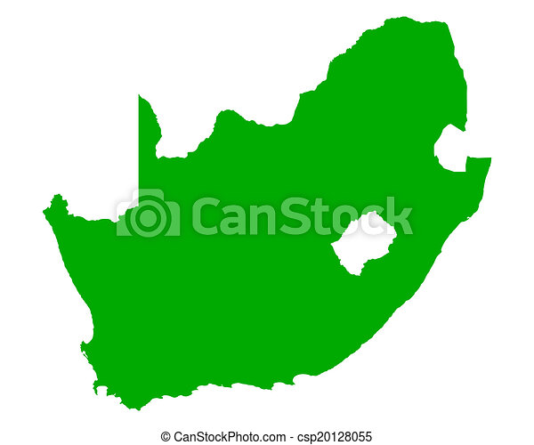 karta, afrika, syd - csp20128055