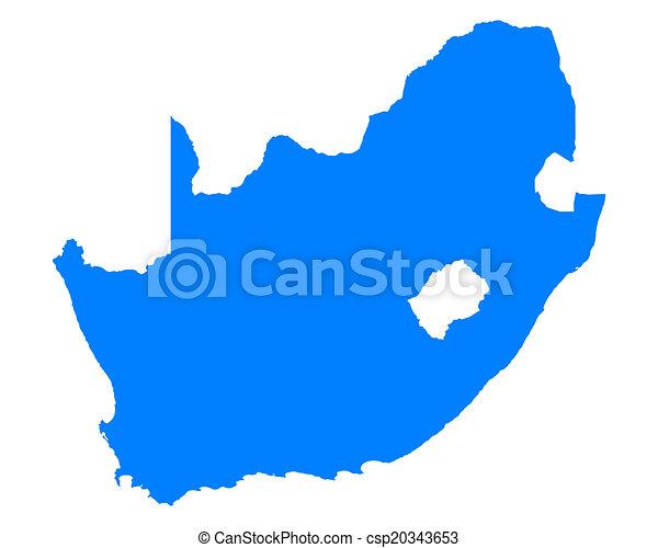 karta, afrika, syd - csp20343653