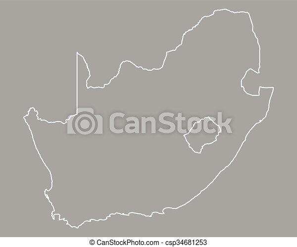 karta, afrika, syd - csp34681253