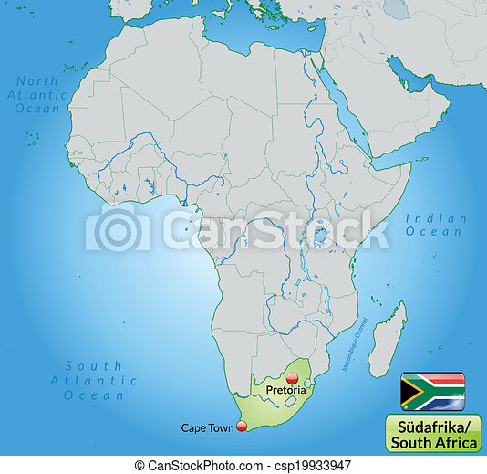karta, afrika, syd - csp19933947