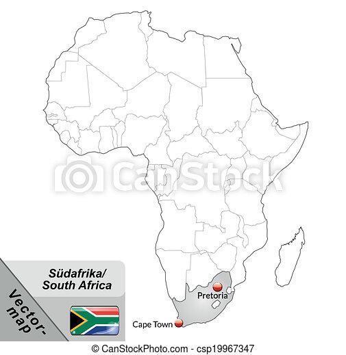 karta, afrika, syd - csp19967347
