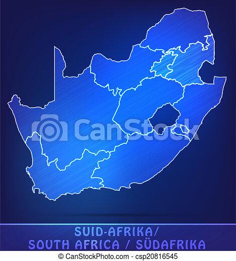 karta, afrika, syd - csp20816545
