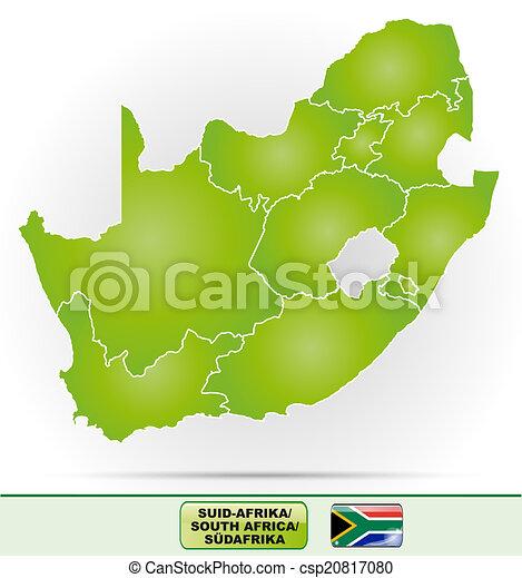 karta, afrika, syd - csp20817080