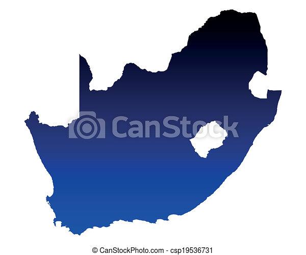 karta, afrika, syd - csp19536731