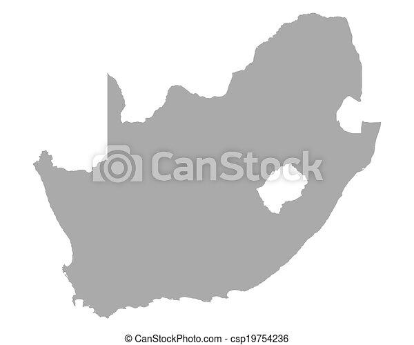 karta, afrika, syd - csp19754236