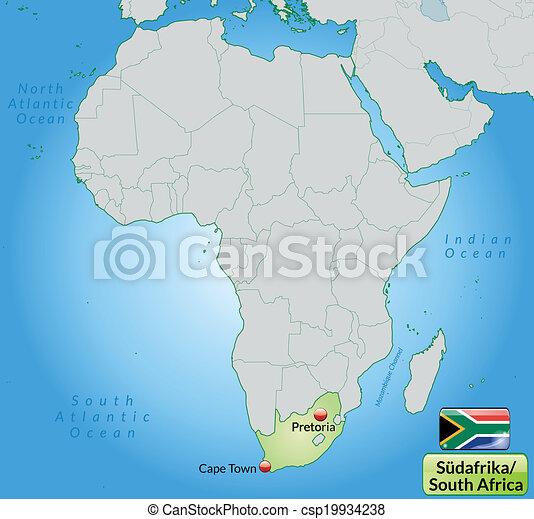 karta, afrika, syd - csp19934238