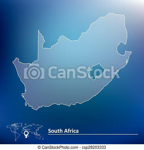 karta, afrika, syd - csp28203333
