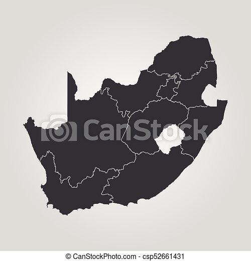 karta, afrika, syd - csp52661431