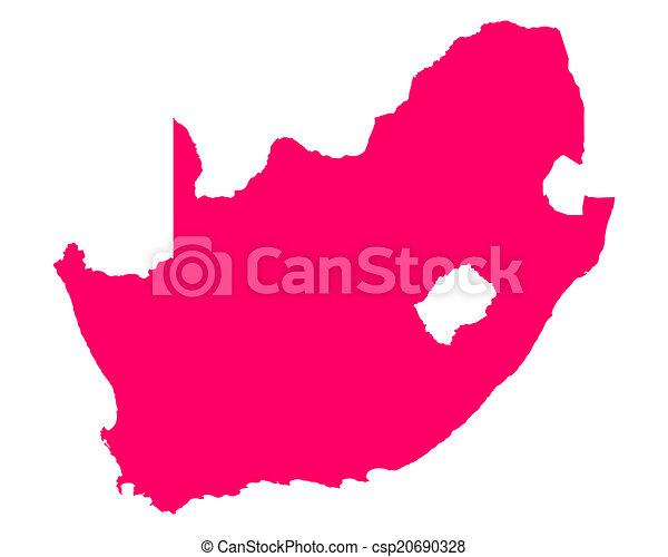 karta, afrika, syd - csp20690328