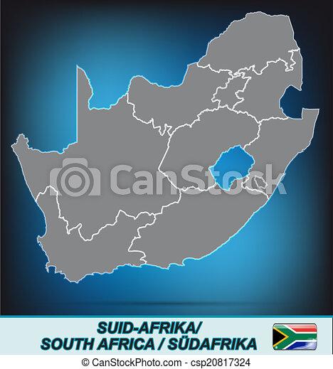karta, afrika, syd - csp20817324