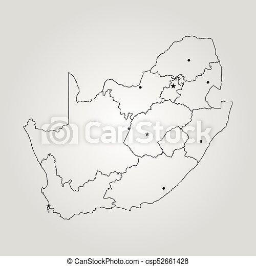 karta, afrika, syd - csp52661428