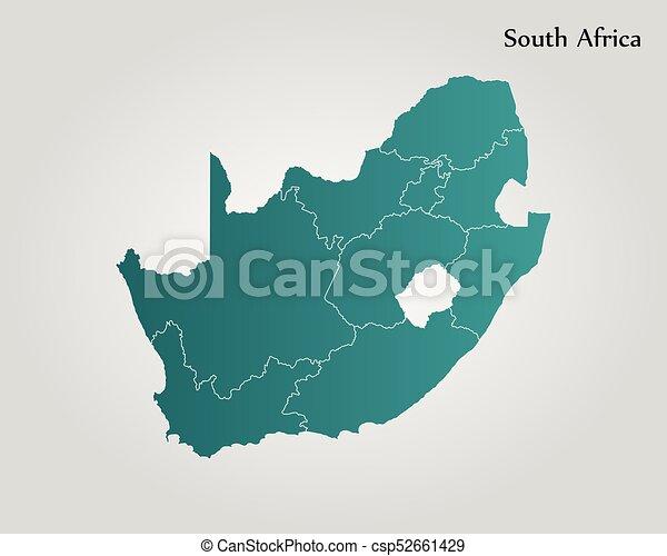 karta, afrika, syd - csp52661429