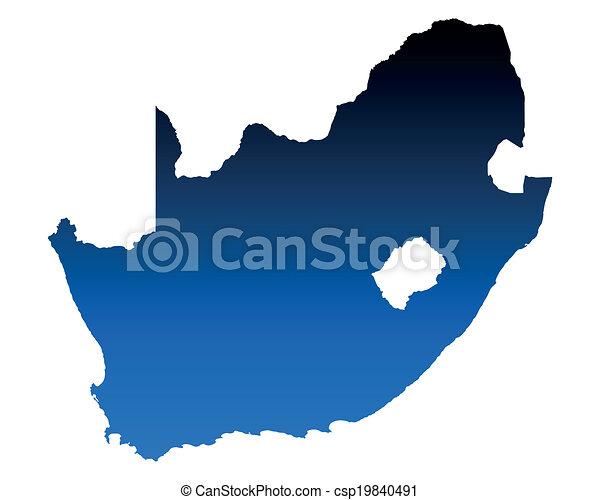 karta, afrika, syd - csp19840491
