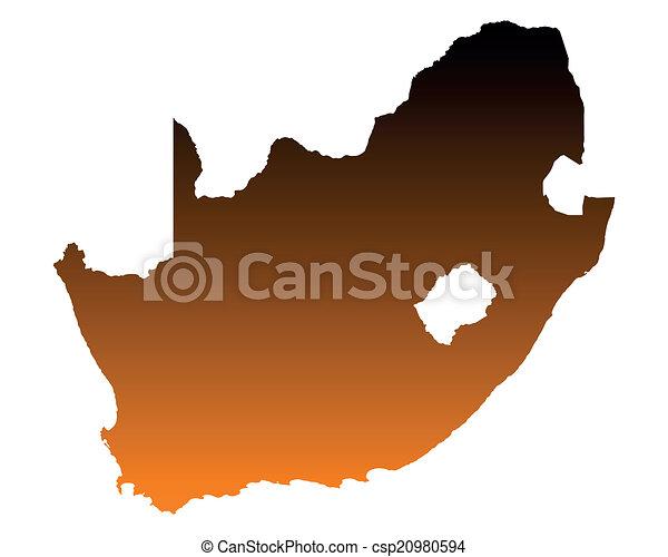 karta, afrika, syd - csp20980594