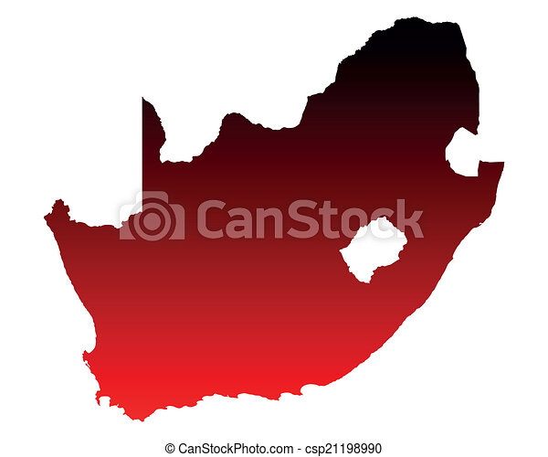 karta, afrika, syd - csp21198990
