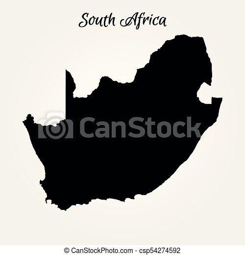 karta, afrika, syd - csp54274592