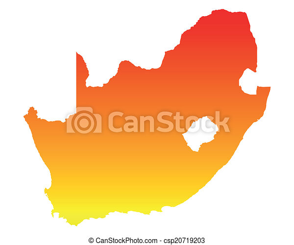 karta, afrika, syd - csp20719203