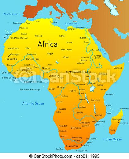 karta på afrika Karta, afrika. Karta, abstrakt, afrika, kontinent. karta på afrika