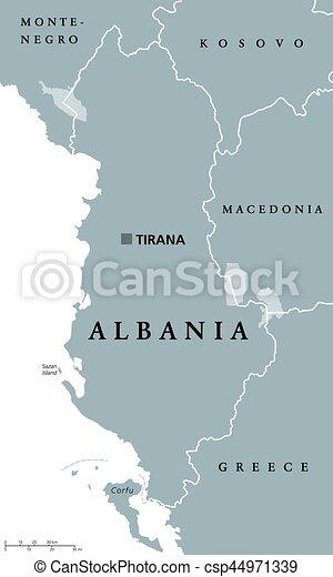 Karta Albanien Politisk Europa Karta Albanien Gra
