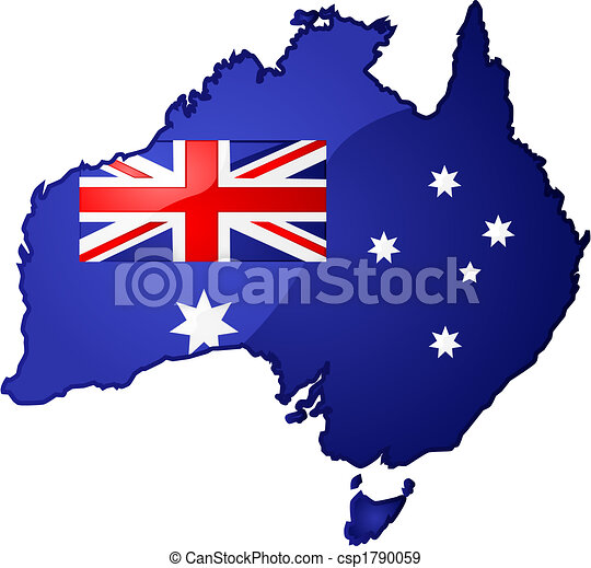 karta, australien - csp1790059