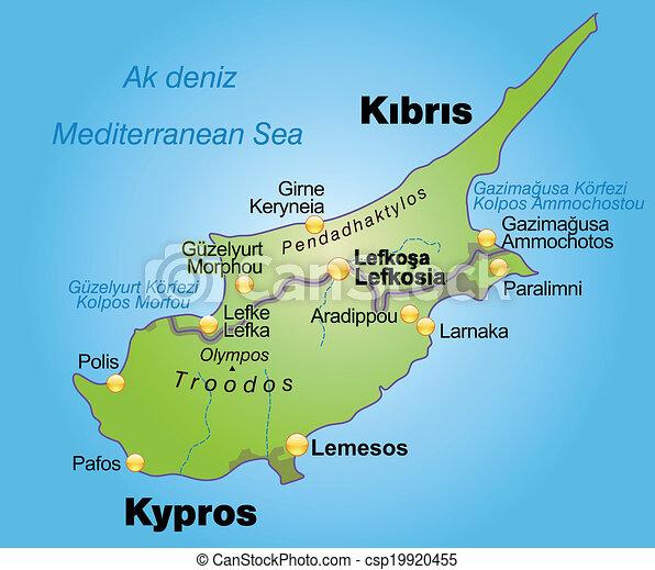Karta Cypern Karta Gron Cypern Oversikt
