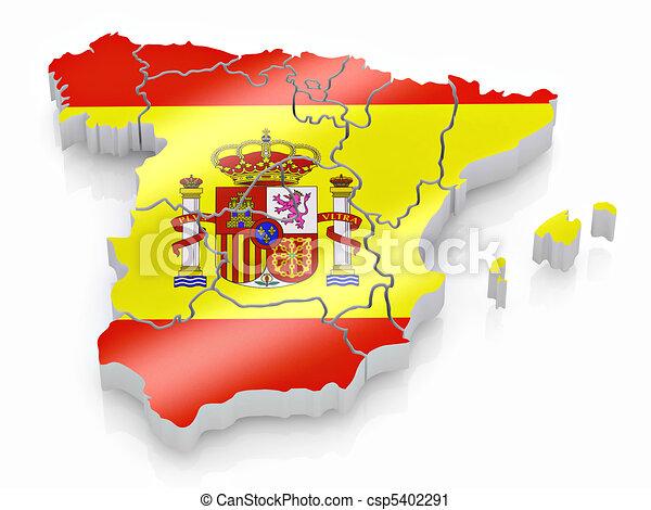 Karta Pa Spansk.Karta Farger Flagga Spanien Spansk Karta Flagga Colors
