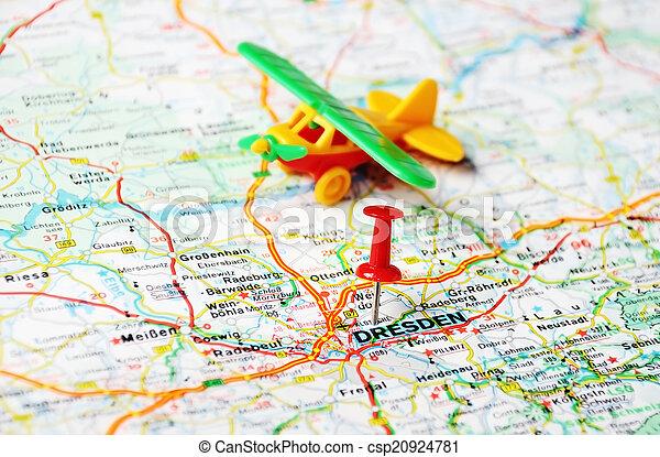 dresden karta Karta, flygplats, dresden. Karta, begrepp, stift, dresden, resa  dresden karta