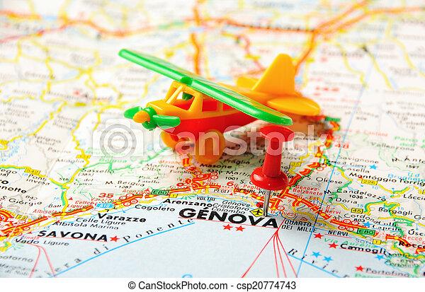 Italien Karta Genova.Karta Flygplats Genova Karta Stift Pekande Genova Genua