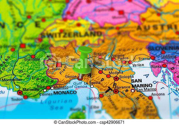Italien Karta Genova.Karta Genoa Italien Karta Skola Genoa Italien Fargrik Effect