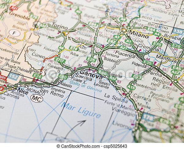 Italien Karta Genova.Karta Genova Karta Italien Genova