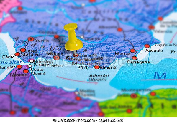 Karta Spanien Granada.Karta Granada Spanien Karta Skola Granada Fargrik Effect